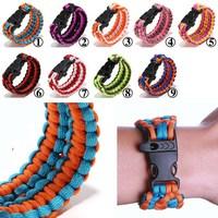1PC Retail Cobra PARACORD BRACELETS KIT Military Emergency Survival Bracelet Men Charm Bracelets Unisex 9 Colors 2015