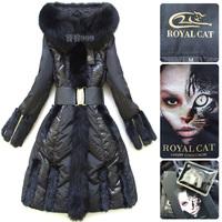 Ring mink hair sweep royal for cat fox fur black long slim design plus size down coat female