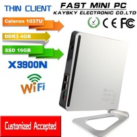 FAST MINI PC celeron 1037u dual core 1.8ghz  HTPC computer  thin client mini pc windows/linux  HDMI, VGA    4gb ram 16gb ssd