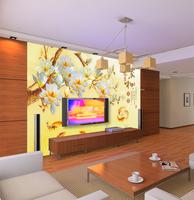 Mural wallpaper tv background wall sofa 3d brief quentzel rich