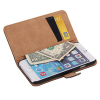 Hiphophippo Leather Case for Iphone 5/5s +Screen Protector +Capacitance Pen (Khaki)