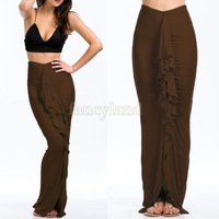 Wholesales Asymmetrical Skirts Bodycon Bandage Ruched Long Pencil Skirts Summer New 2014 Womens Party Maxi Skirts SV03 CB028884