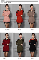 Fashion Women Sweater Knitted Pullover Sweater Long Design Plus Size 6 colors Factory Wholesale