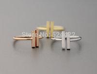 Free shipping 10pcs/lot Simple double bar shape ring, bar rings, simple adjustable bar shape finger ring JZ-115