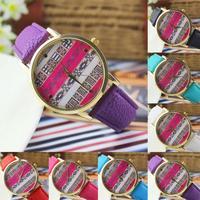Feitong Womens Leather Alloy National Wind Analog Quartz Retro Wrist Watch New Free Shipping&Wholesales