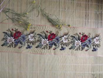 Шерстяная вышивка гобелен с острие иглы холст - цветение розы