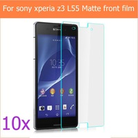 "NEW 10PCS anti-glare matte screen protector film For Sony Xperia Z3 L55t 5.2"" Lcd guard with 10cloth +10 retail packages on sale"