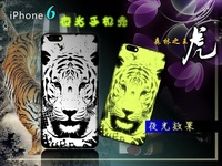 2014 New Fashion Fluorescent Noctilucent 3D Cute Cartoon Animal Tiger OWL Lion Glow Hard Case Cover For iPhone 6 4.7 Plus 5.5