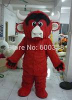 New christmas cartoon character red bull  mascot costume kids party costume
