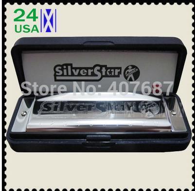 Nova hohner internacional silver star 10 buracos gaita diatônica