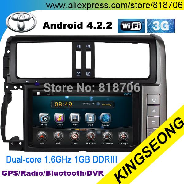 100% Pure Android 4.2 Car DVD GPS For TOYOTA PRADO 2010 - 2013 Head Unit 3G WIFI Radio Dual-core 1.6GHz Free 8GB Map card 8015(China (Mainland))