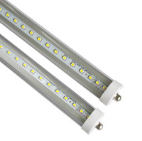 T8 LED Tube Light 45W 8ft 2400mm 2.4m FA8 8 feet single pin fluorescent tube lamps SMD2835 4800LM AC85-265V CE RoHS FCC ETL UL
