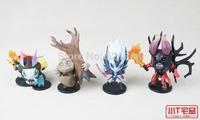 2014 NEW ! Warcraft Peripheral Dota 2 Action Figures Lucifer Doombringer Tiny Vengeful Spirit Slark Christmas gift with box