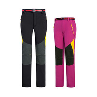 New Fashion Winter Outdoor Women Trousers Waterproof Windproof Warm Fleece Stretch Woven Softshell Lady Sport Trousers with Belt