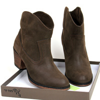 Woman Boot Vintage Boots Short Boots Thick Heeled Shoes