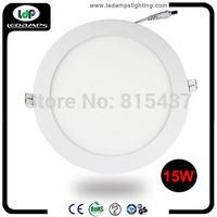 50pieces/lot 15w Round Shape AC85~265V  LED Panel Light Warm White 2800~3200K Or Cold White 6000~6500K