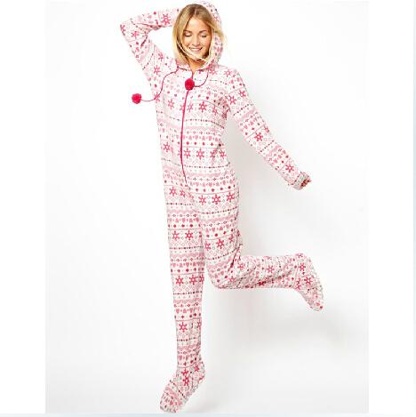 Footed Pajamas Pattern Footed Pajamas Women Adult