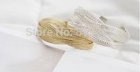 Wholesale 40pcs/lot Sweet Bracelet Alloy Braided Twist Bracelets