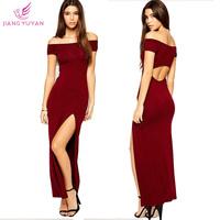 Vestidos Evening Dress Women Fashion Sheath Slash Neck Ankle-length Backless Sexy Novelty Dresses Ladies Clothing Dropshipping