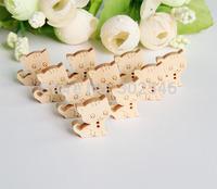 lovely little cat wood button  cartoon wood button,15mm*17mm,50pcs/lot NK2