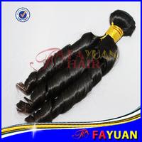DHL fast shipping 7A FAYUAN 100% virgin real hair mixed lots 3 pieces spiral spring culs hair