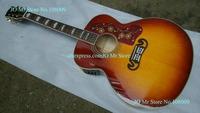 43 inches SJ200 Peter Frampton Signature Acoustic Guitar Back / Side Tiger Sunburst Color With Fishman 301 Mic Pickups