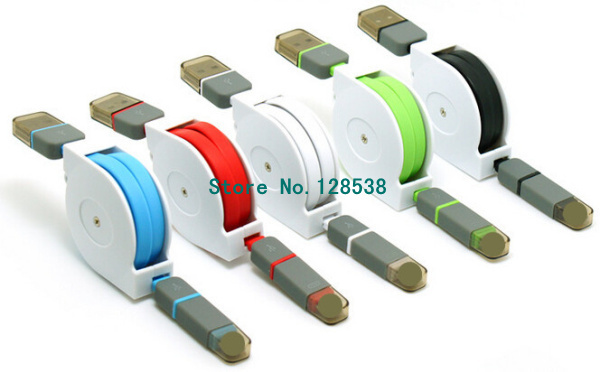 Retractable usb data cable Quality TPE Wire USB Connector USB Charge Sync Cable For For iPhone5 5s 6 for Samsung S5 Perfect Suit(China (Mainland))