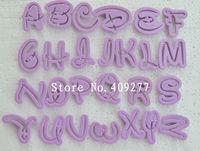 26 PCS Fondant Cake Decoration Tools Font Alphabet Cutter Letters biscuit cutter set