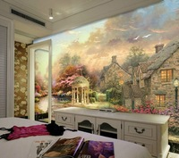 3d fashion sweet village countryside tv living room background wall bedroom wall wallpaper mural