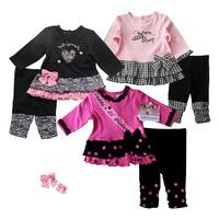 2014 baby girl clothing set christmas clothes baby girl dress set infant girl princess dress polka dot plaid bow 3 colors