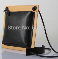 Top Layer Cow Leather Doble Sides Zipper Shoulder Bag