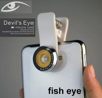 2014 Mobile Phone Len Universal Clip 180 Degree fish Devil's Eye Fisheye Lens for iPhone iPad Samsung Note 2 3 LG HTC,20pcs/lot