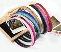 2015 Korean fashion Ladies sparkling beads frosted hairbands candy-colored hair hoop headband hair accessories for Women Z&E2154