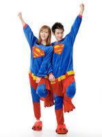 Super Man Movie Cosplay Costume Animal Onesies Men Women Adult Onesie Pajamas Soft Fleece Pyjamas Jumpsuit Romper Sleepwear