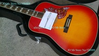 41 inches Acoustic Guitar Cherry Sunburst hummingbird With Fishman 301 Mic Pickups acoustic Electric guitar