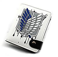 Attack on Titan Shingeki no Kyojin Scouting Legion Recon Corps white wallet