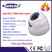 1/3'' Effio-E 700tvl camera with OSD and Audio record optional