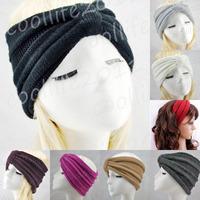 Free shipping ,NEWST Style knit Headband Beanie Ear Warmer Knitted headwrap turban bow
