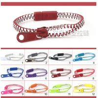 Free shipping 5#  silver plating zipper bracelets environmental protection kid bracelet  Silver plated bracelets
