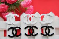 Ann Fashion Accessories, new 50pcs/lot, Flat back resin Brands logo free shipping