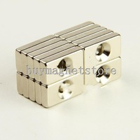 5pcs Neodymium Countersunk Ring Block Strong Magnet 20mm x 10mm x 4mm Hole 4mm N35ndfeb Neodymium  magnets