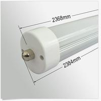 Single Pin 45W FA8 Led Tube Lights 2.4m 2400mm 8ft 192pcs SMD 2835 T8 Led Tube Lights Warm Pure Cool White AC 110-240V + CE ROHS