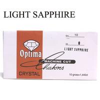 Light sapphire color nail art diamond ss6 rhinestones 2mm diameter glass rhinestones in paper pack nail rhinestone