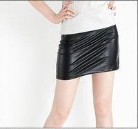 "M112""Hot Sexy Woman Joker Copy Skin Tight Render Short Mini Imitation Leather Skirt"