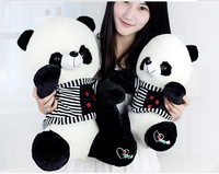 stuffed toy large 50cm black&white stripes sweater Panda plush toy panda doll Christmas gift w0758