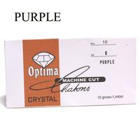 purple color nail art diamond ss6 rhinestones 2mm diameter glass rhinestones in paper pack nail rhinestone