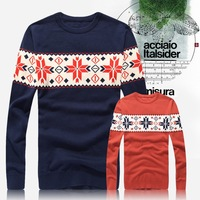New Arrival! Men O- neck Sweaters Fashion Pullovers Sweater Knitwear Style Sweater Free Shipping