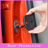 2x Anti-corrosive Car Door Lock buckle decoration Protective Cover Kit for VW MK6 Audi Skoda Porsche