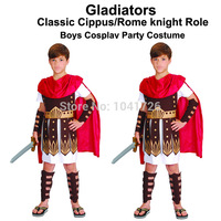 2015 New Classic Rome-Boys Gladiator character/Role cosplay party costume for children Costume-JCMC-003