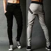 Casual Men Harem Baggy Hip Hop Slacks Men Tapered Pants Dance Sport Sweat Pants Male Pocket Trousers Slacks